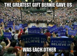 The greatest gift Bernie gave us was each other
