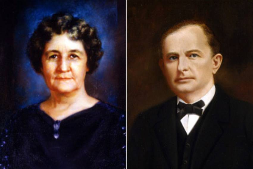 """Miriam """"Ma"""" Ferguson, who served as the 29th and 32nd Governor of Texas, and her husband James """"Pa"""" Ferguson, who was the 26th governor, his term cut short after he was impeached and removed from office."""
