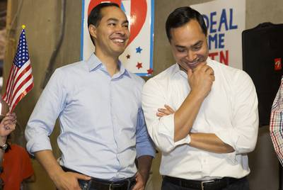 Presidential candidate Julián Castro, left, has chosen his brother, U.S. Rep Joaquin Castro, to serve as his campaign manager, which is typically a volunteer position that involves managing big-picture tasks.