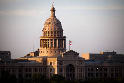 The Texas Capitol.