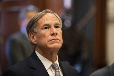 Gov. Greg Abbott briefs reporters during a press conference on a Domestic Terrorism Task Force meeting held at the Capitol on Jan. 7.