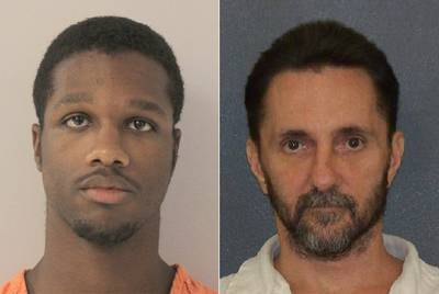 Former prison officer D'Andre Glasper, left, was arrested on suspicion of aggravated assault in the death of inmate Gary Ryan.