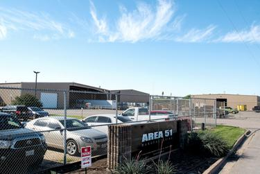 Area 51, the manufacturing plant for GelPro, an ergonomic mat manufacturer in Waco, on March 25, 2020. The company will start producing face shields next week, according to co-owner Lisa McMahan.