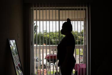 María, an undocumented immigrant, had to leave her apartment in Houston in mid-March.