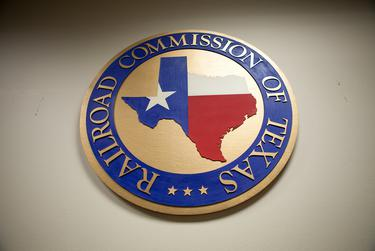Seal of the Railroad Commission of Texas.