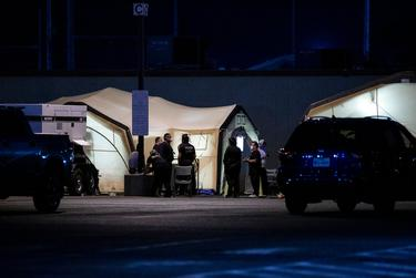 New medical tents set up at University Medical Center of El Paso hospital due to the huge spike in active COVID-19 cases (11,300+) in El Paso. October 25, 2020.