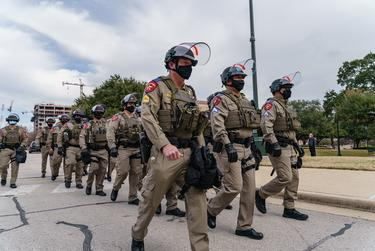 Security at the Texas Capitol has been ramped up after violence in Washington D.C. last week. Jan. 12, 2021.