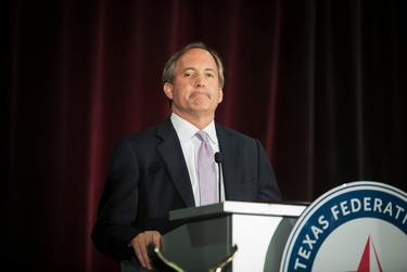 Attorney General Ken Paxton spoke at the Texas Federation of Republican Women Convention in Dallas on Oct. 19, 2017.