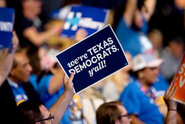Texas Democratic Convention at the Alamodome on June 17th, 2016.