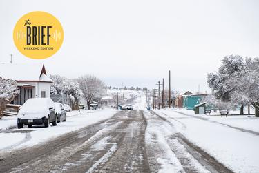 Marfa is covered with snow a second time. Another snowstorm came in early Thursday morning, the day after the power was restored in town. The temperature dropped to 7 degrees on Friday morning. Feb. 18, 2021.