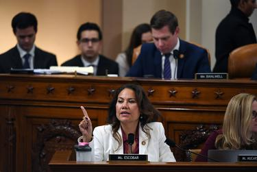 U.S. Rep. Veronica Escobar, D-El Paso, speaks during a House Judiciary Committee markup of Articles of Impeachment against President Donald Trump in Washington, D.C. on Dec. 12, 2019.